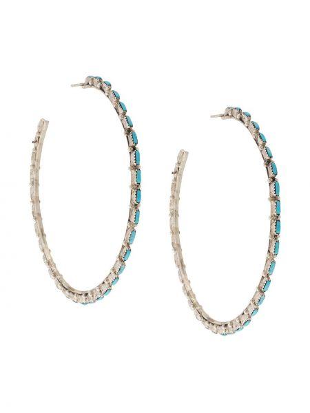 Серебряные массивные серьги-кольца Jessie Western