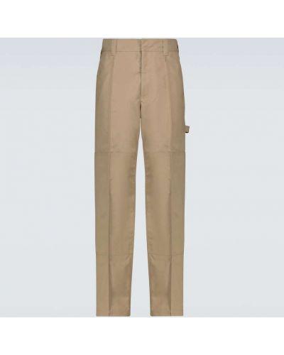 Beżowe spodnie skorzane na co dzień Acne Studios