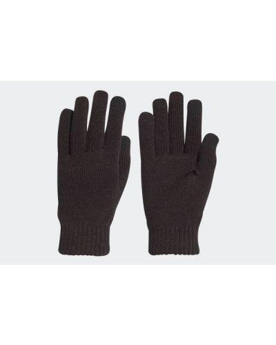 Czarne rękawiczki z akrylu Adidas