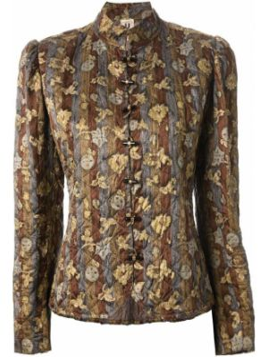 Прямая стеганая куртка на пуговицах Emanuel Ungaro Pre-owned