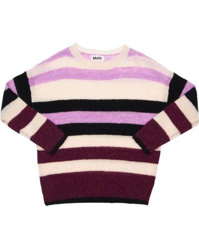 Шерстяной свитер с воротником с нашивками Molo