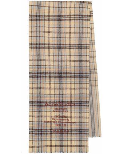 Коричневый шерстяной шарф оверсайз Acne Studios