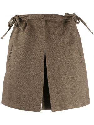 Brązowa spódnica mini bawełniana Plan C