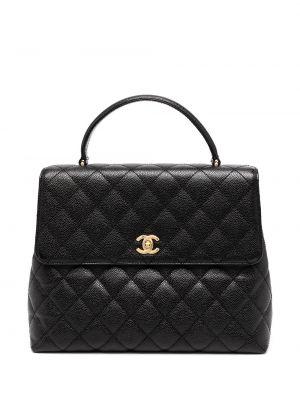 Черный кожаный портфель с карманами Chanel Pre-owned