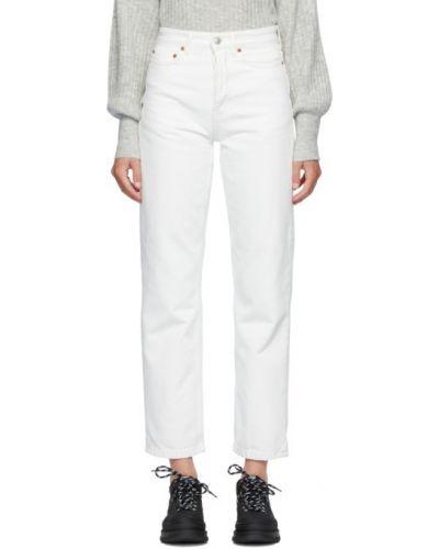 Прямые белые джинсы с карманами Won Hundred