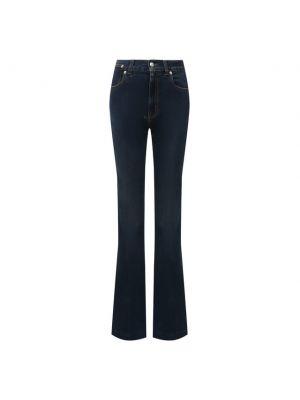Синие джинсы клеш с завышенной талией Alexander Mcqueen