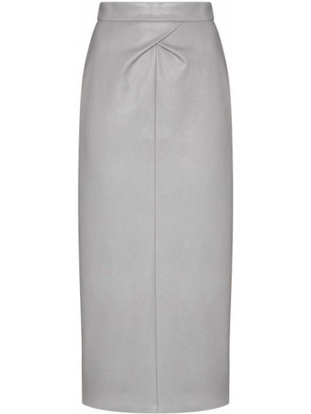 Серая юбка карандаш из искусственной кожи Anouki