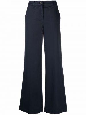 Широкие брюки - синие Semicouture