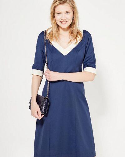 Платье осеннее синее Laroom