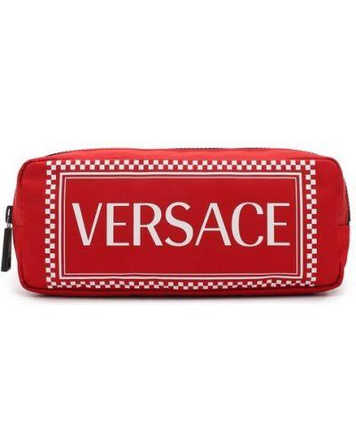 Поясная сумка деловая текстильная Versace