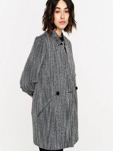 Пальто демисезонное серое Befree