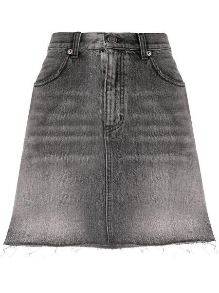 Юбка мини джинсовая с завышенной талией Saint Laurent
