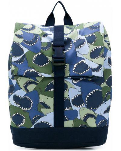 Niebieski plecak elegancki bawełniany Il Gufo