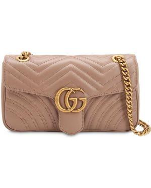 Кожаная сумка атласная Gucci