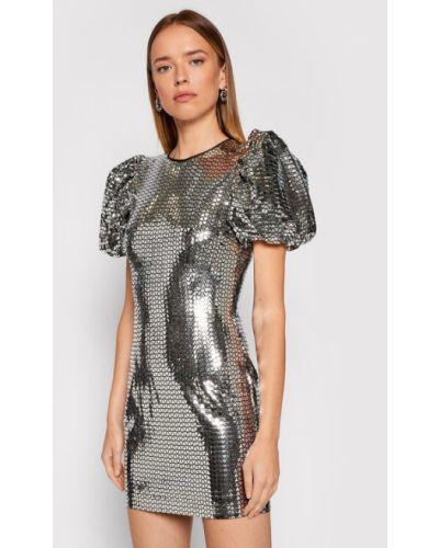 Sukienka srebrna Rotate