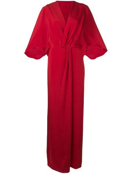 Приталенное платье мини с запахом летучая мышь Alberta Ferretti
