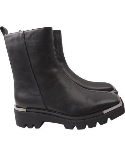 Кожаные ботинки - черные Angelo Vani