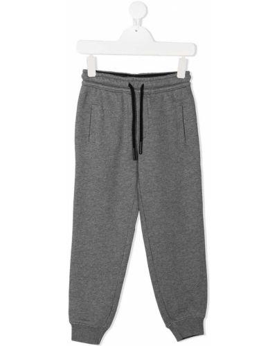 Брючные серые брюки дудочки с карманами Sun 68