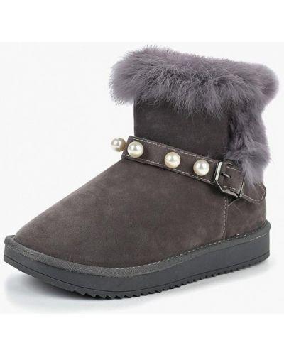 Полусапожки замшевые с натуральным мехом Max Shoes