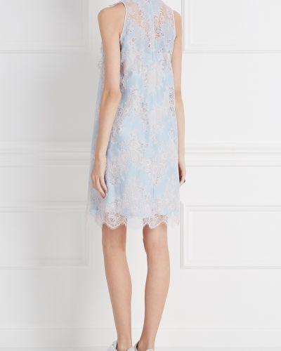 Платье мини с цветочным принтом со вставками Carven