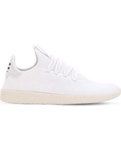 Tenis ziemny biały koronkowa sneakersy zasznurować Adidas Originals