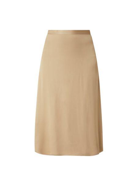 Beżowa spódnica midi rozkloszowana z wiskozy Esprit Collection