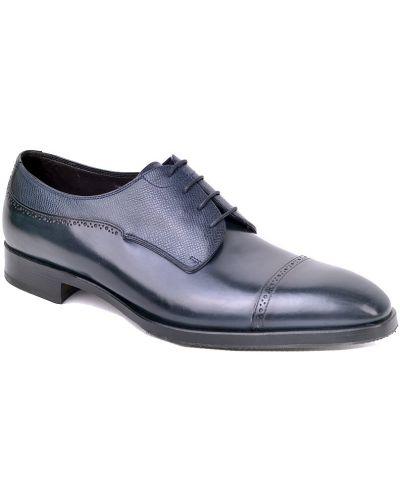 Кожаные туфли - синие Fratelli Rossetti