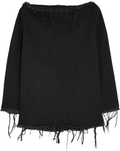 Czarny top bawełniany Marques Almeida