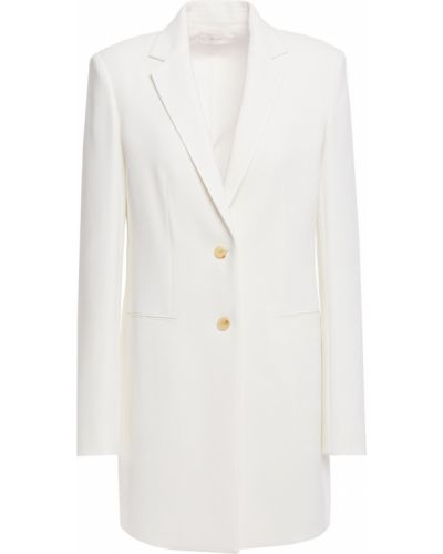 Белый пиджак с карманами из вискозы The Row