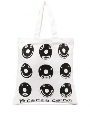 Czarna torba na ramię z printem 10 Corso Como