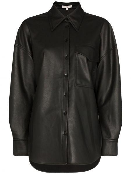 Koszula z wiskozy - czarna Tibi
