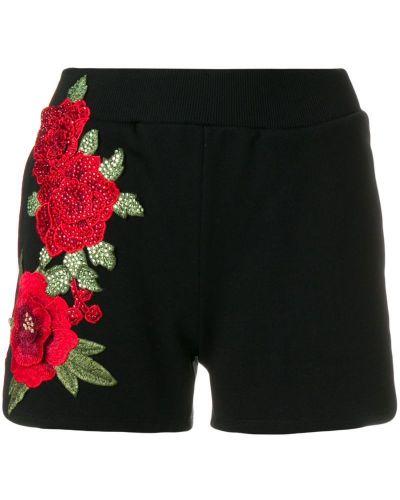 Шорты с цветочным принтом с вышивкой Philipp Plein