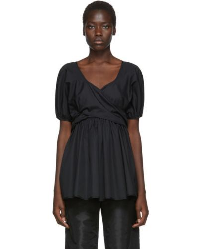 Блузка с коротким рукавом с воротником-стойкой с запахом Cecilie Bahnsen