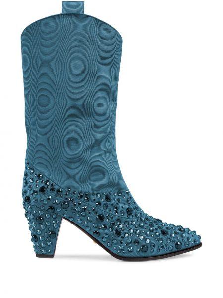Kowbojki - niebieskie Gucci