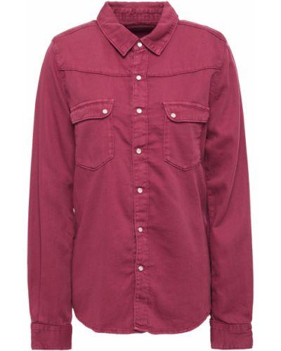 Фиолетовая хлопковая рубашка с манжетами Ba&sh