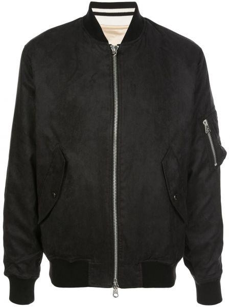 Черная куртка с манжетами на молнии с воротником Sophnet.