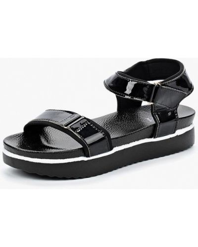 Черные босоножки на каблуке Vh