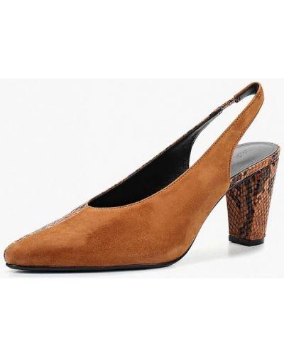Кожаные туфли с открытой пяткой на каблуке Mango