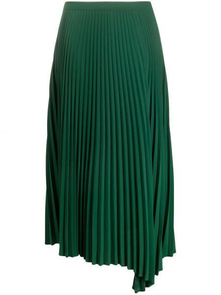 Зеленая с завышенной талией плиссированная юбка миди Closed