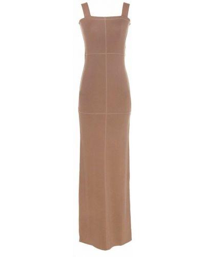 Sukienka - beżowa Lemaire