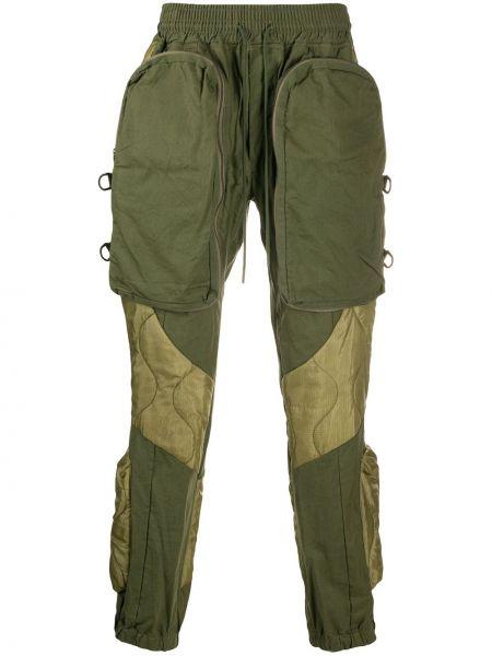 Spodni bawełna bawełna bojówki khaki Readymade
