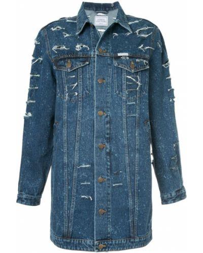 Джинсовая куртка длинная хлопковая Forte Couture