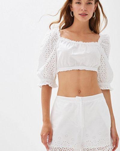 Блузка с открытыми плечами белая индийский Ovs