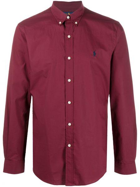 Bawełna z rękawami bawełna koszula oxford z kołnierzem Polo Ralph Lauren