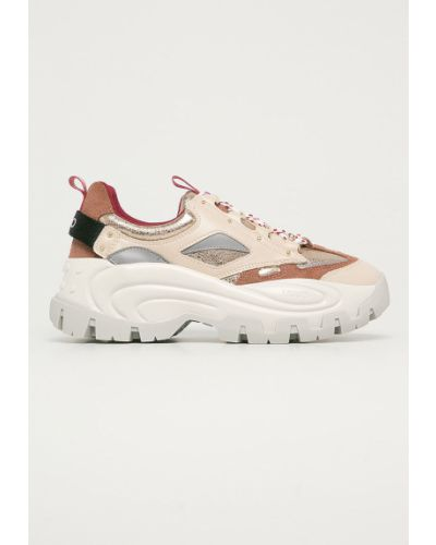 Sneakersy na platformie skorzane sznurowane Liu Jo