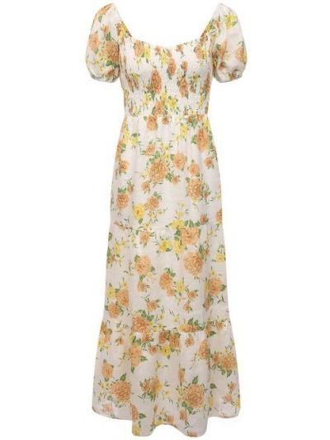 Льняное платье - желтое Faithfull The Brand