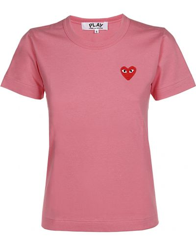 T-shirt - różowa Comme Des Garcons Play