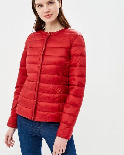 Утепленная куртка весенняя красная Iwie