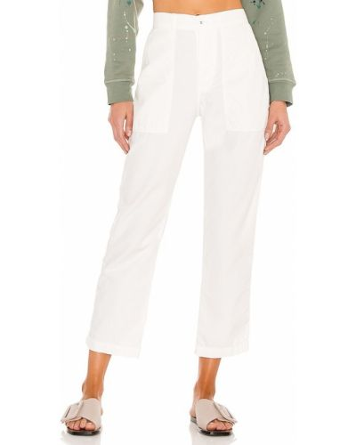 Białe spodnie bawełniane Nsf