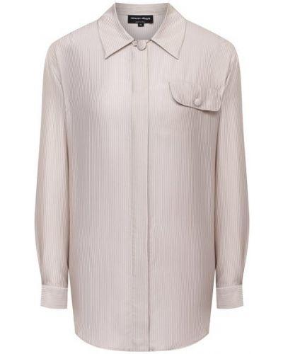 Бежевая шелковая рубашка Giorgio Armani